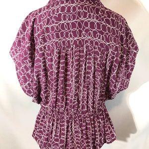 Anthropologie Tops - MAEVE Anthropologie Purple swirl print blouse Sz L